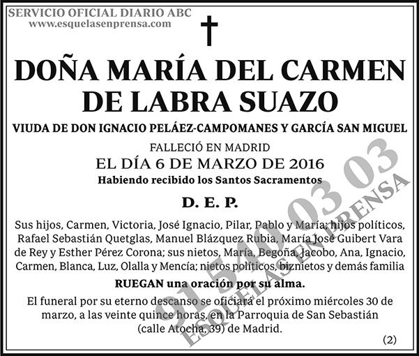 María del Carmen de Labra Suazo